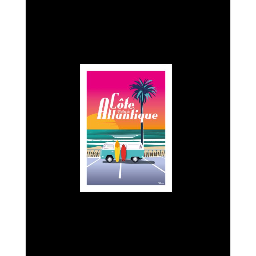 """401 Marcel - Carte Postale CÔTE ATLANTIQUE """"Van Sunset"""""""