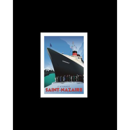 """403 Marcel - Carte Postale SAINT-NAZAIRE """"Le Normandie"""""""