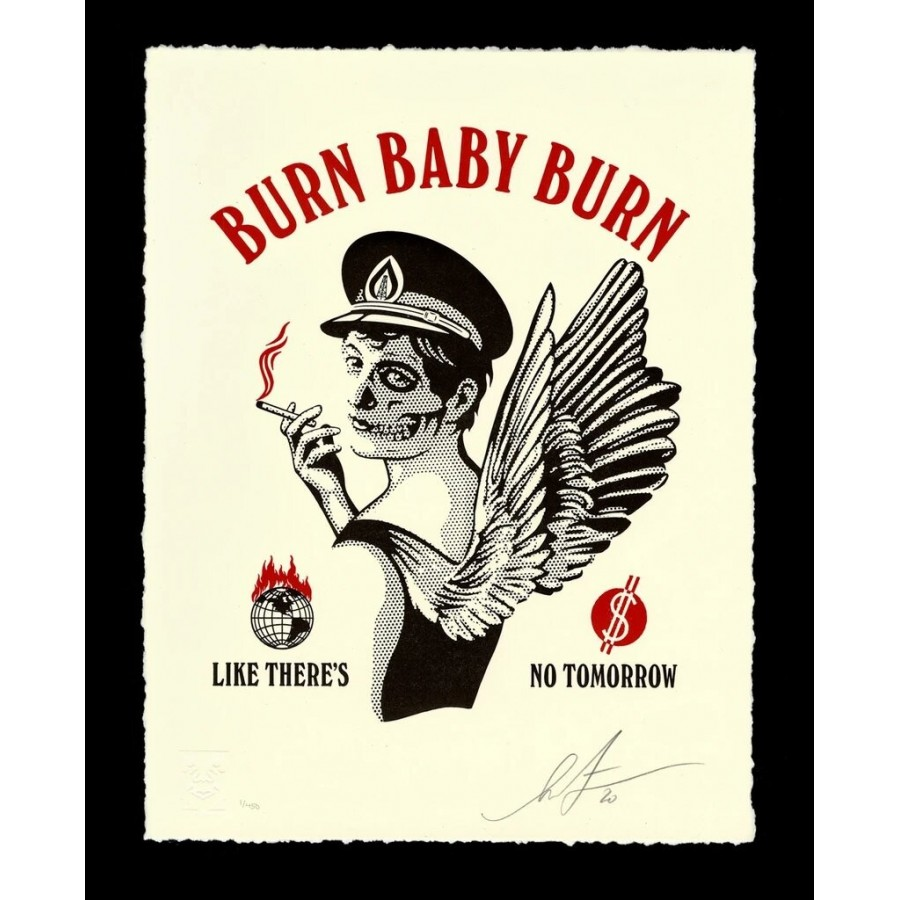 413 Shepard Fairey Obey - Burn Baby Burn