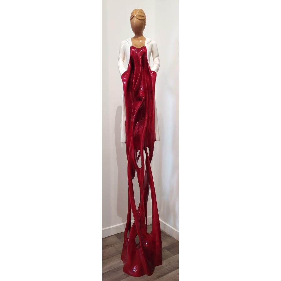 491 Najean - Elégante rouge ajourée