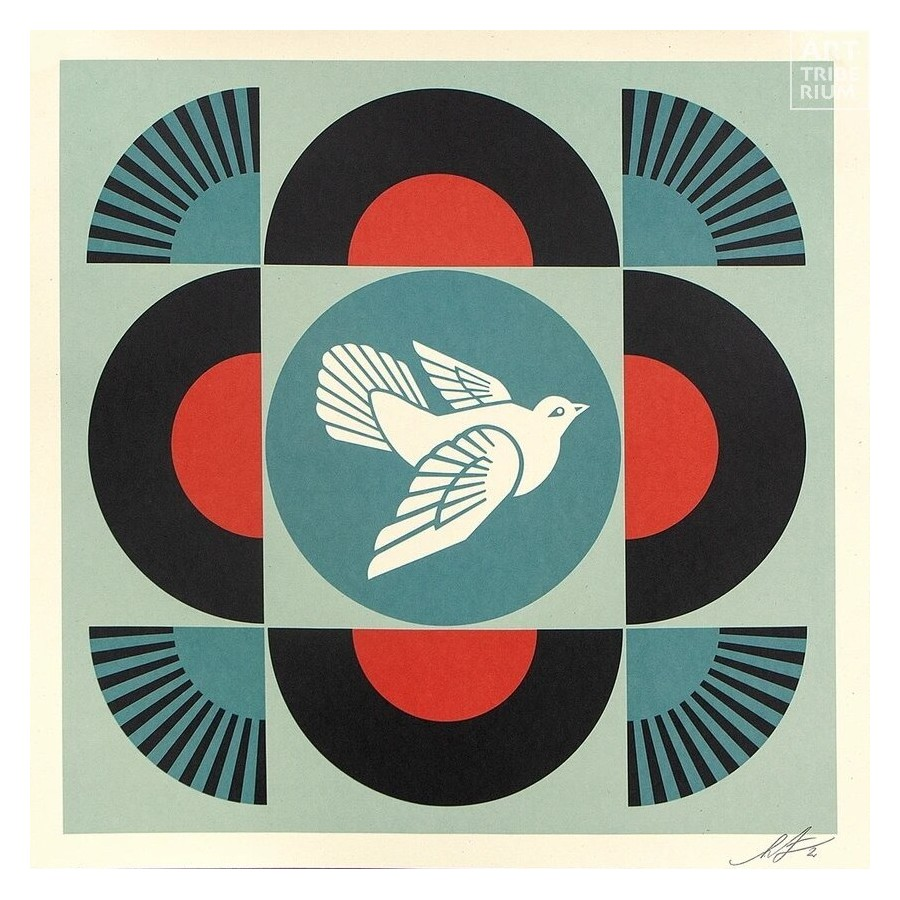 508 Shepard Fairey Obey - GEOMETRIC DOVE - Black