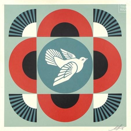509 Shepard Fairey Obey - GEOMETRIC DOVE - Red