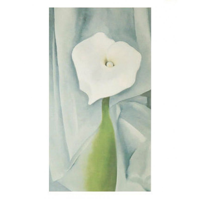 40 Georgia O'Keeffe - Calla Lily on Grey, 1928