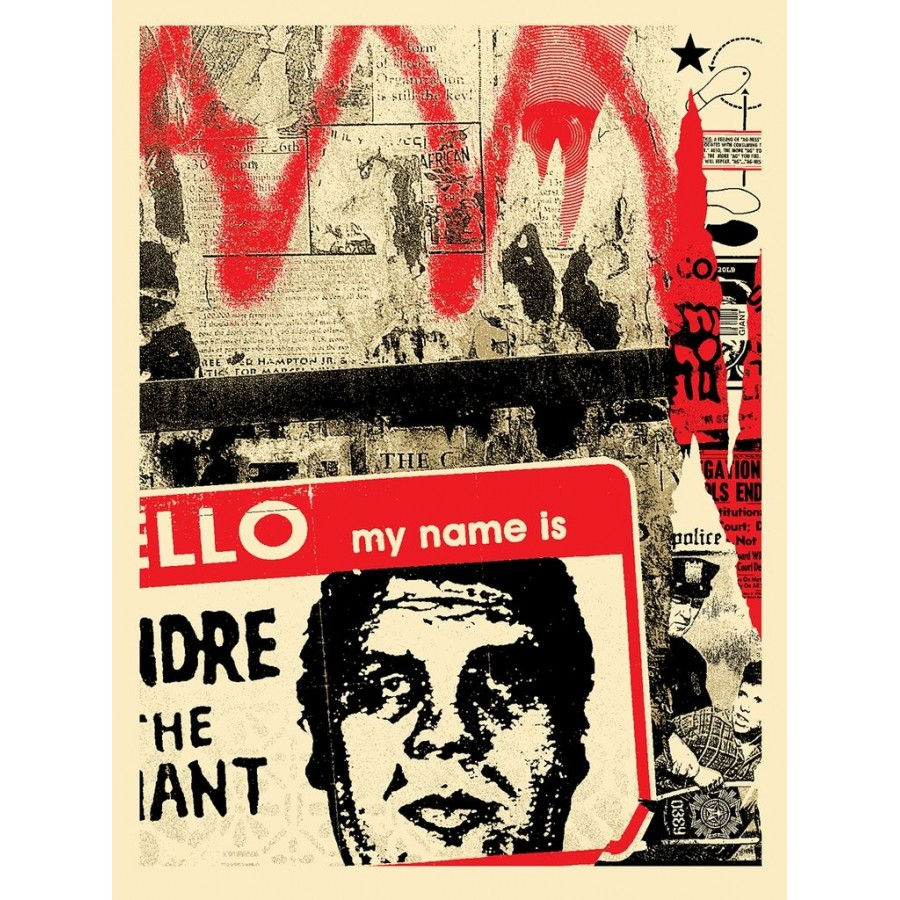 132 Shepard Fairey Obey - Hello My name Is