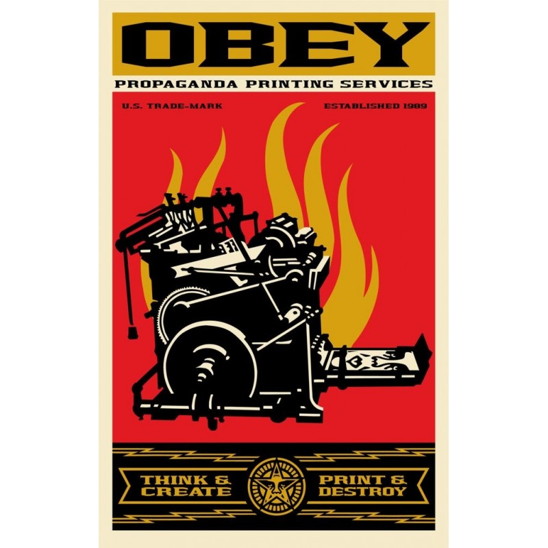 140 Shepard Fairey Obey - PRINT AND DESTROY