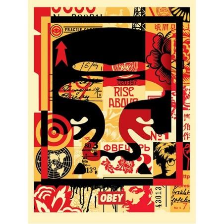 141 Shepard Fairey Obey - FACE COLLAGE HAUT