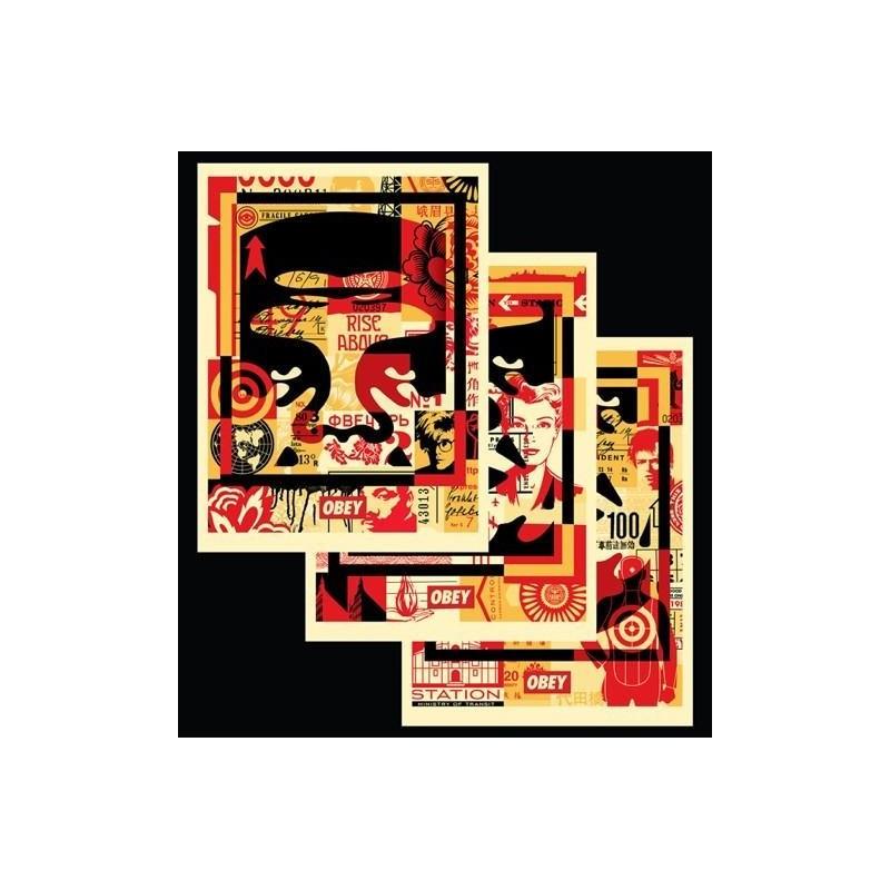 142 Shepard Fairey Obey - FACE COLLAGE MILIEU