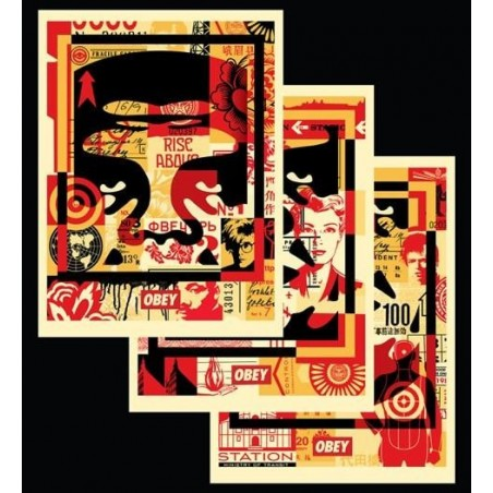 142 Shepard Fairey Obey - FACE COLLAGE MILIEU