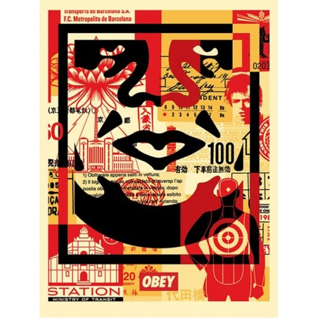 143 Shepard Fairey Obey - FACE COLLAGE BAS