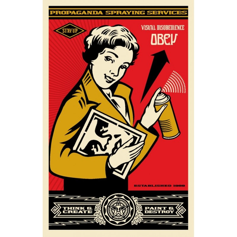 183 Shepard Fairey Obey - Stay up Girl