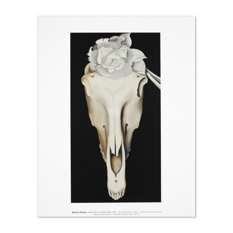 38 Georgia O'Keeffe - Horse's Skull with White Rose, 1931