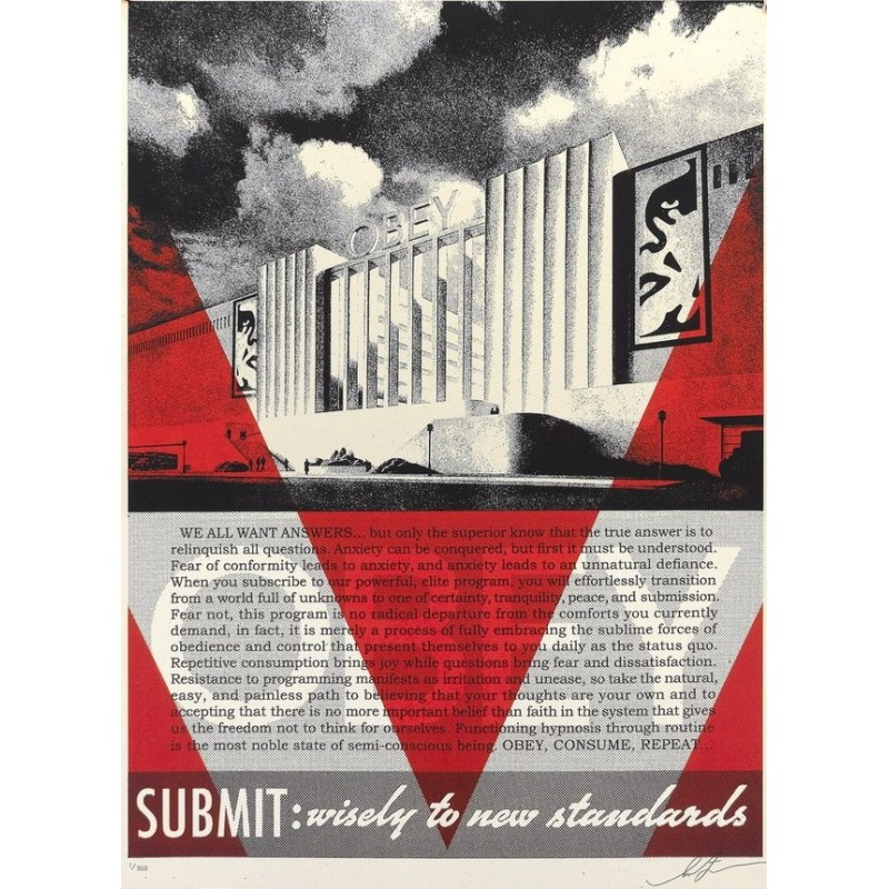 251 Shepard Fairey Obey - OBEY CONFORMITY FACTORY (Red)