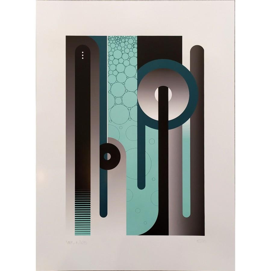 314 Loeil - Print série Lettrage Bleu