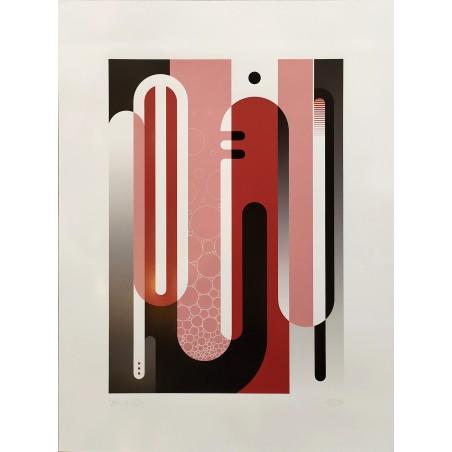 315 Loeil - Print série Lettrage Rose