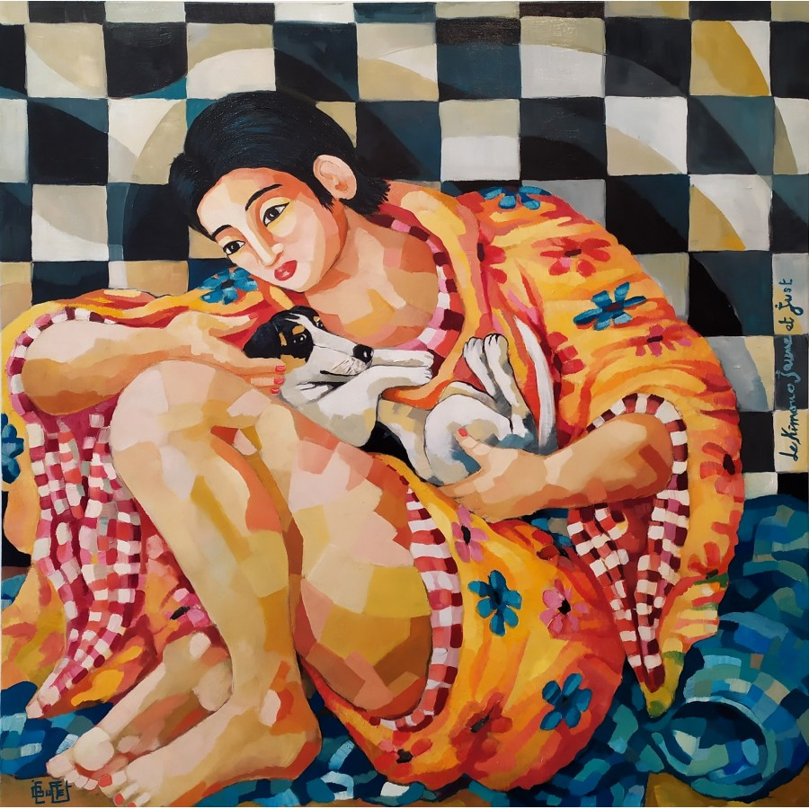 321 Julie Buffet - Kimono jaune et Just