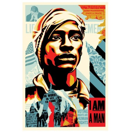331 Shepard Fairey Obey - VOTING RIGHTS ARE HUMAN RIGHTS