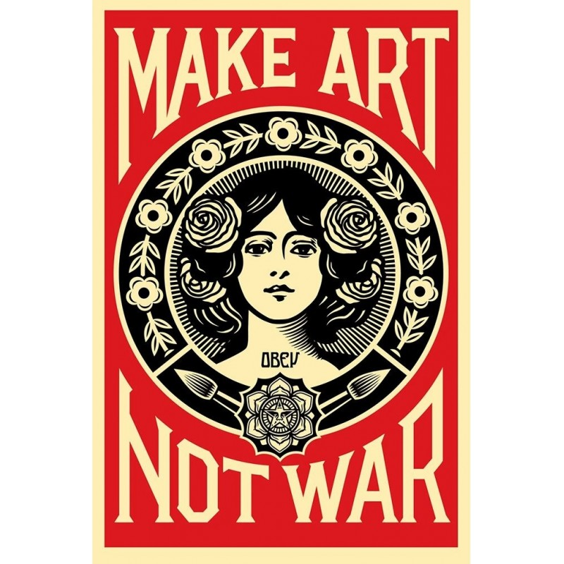 25 Shepard Fairey Obey - Make Art Not War